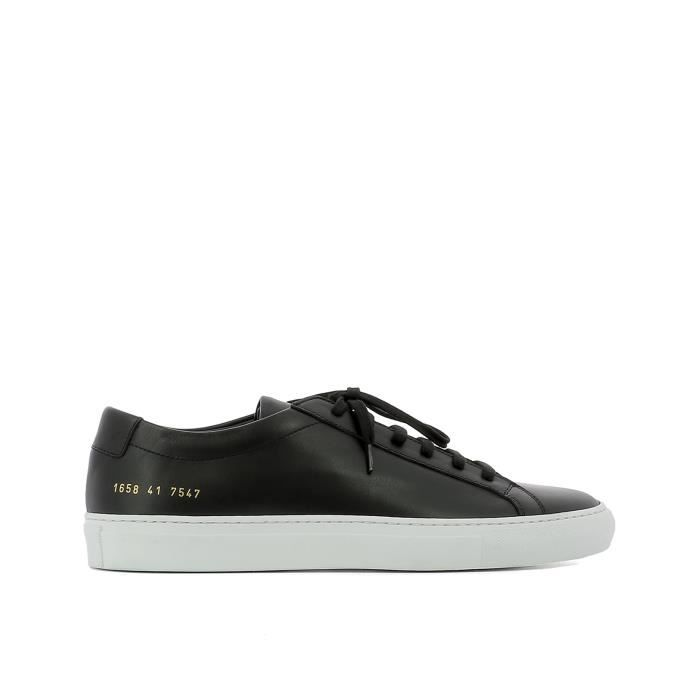 COMMON PROJECTS HOMME 16587547 NOIR CUIR BASKETS