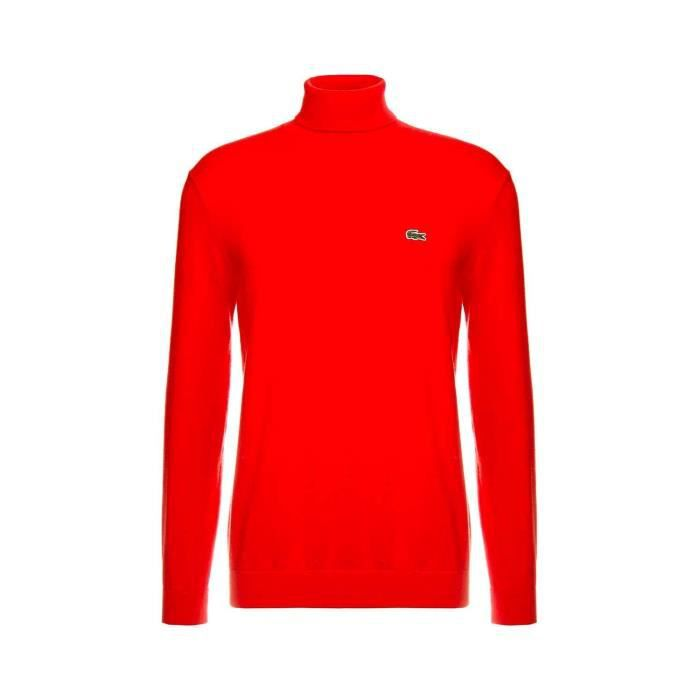 Pull Lacoste Tricot Rouge Homme Rouge - Achat