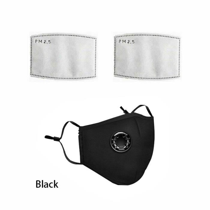 masque anti pollution lavable avec filtre