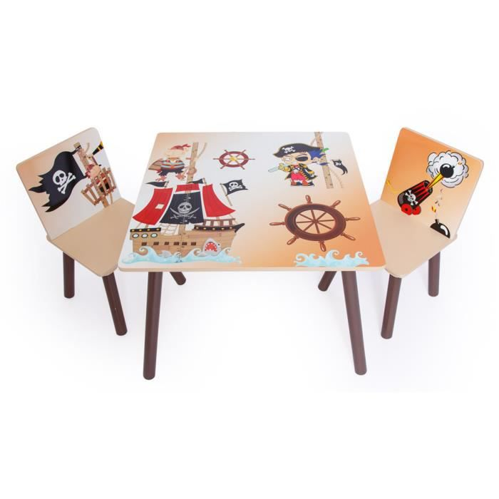 ensemble table 2 chaises enfant motif pirates achat vente table et chaise 6037657283801. Black Bedroom Furniture Sets. Home Design Ideas