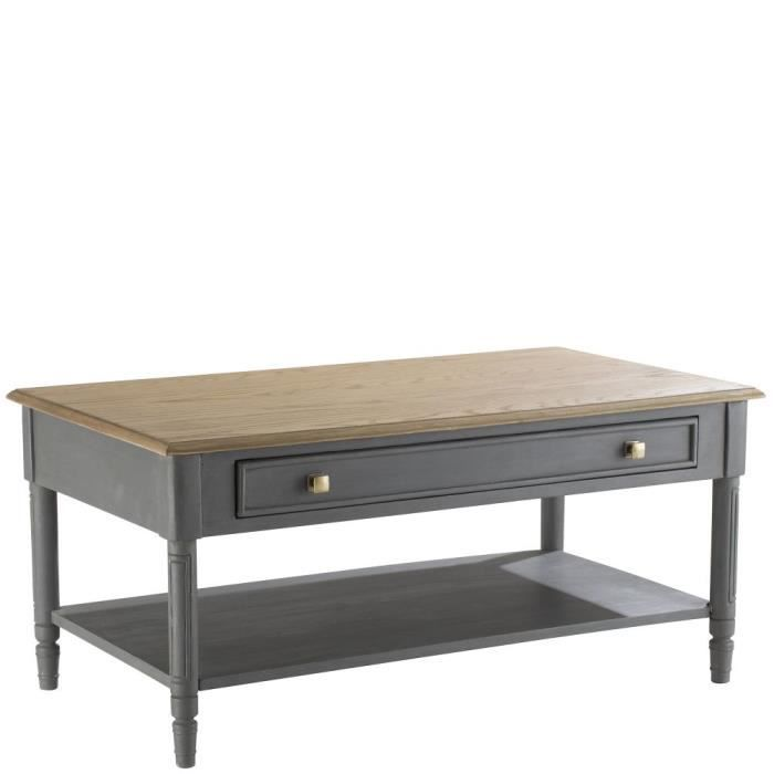 Table basse ch ne gris 1 tiroir leon h50xl110xp60cm - Table basse amadeus ...