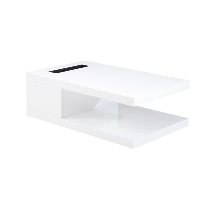 table basse monet blanche grise achat vente table. Black Bedroom Furniture Sets. Home Design Ideas