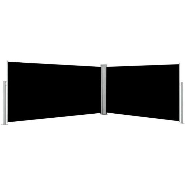 PARAVENT vidaXL Auvent latéral rétractable noir de 160x600