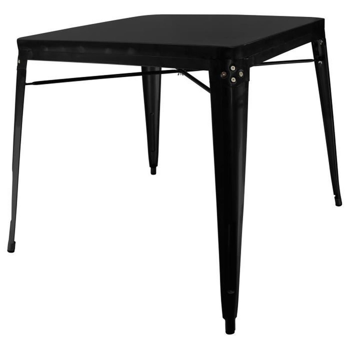 Chaise privee table industrielle noir achat vente chaise cdiscount - Cdiscount vente privee ...