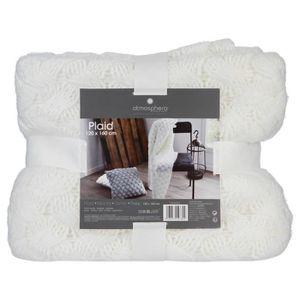 """Tournant-Couverture plaid Cheval /""""Hoppy/"""" 100/% laine 130x200cm blanc//anthracite"""