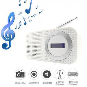 RADIO CD CASSETTE Portable DAB - DAB + Radio BT Digital Pocket LED F