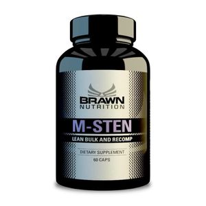 STIMULANT HORMONAUX BRAWN M-STEN 60 capsules x 10 mg Lean Bulk & Recom
