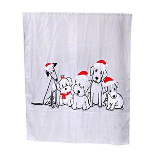 LANCE-RIDEAU Coutume joyeux Noël tissu imperméable salle de bai