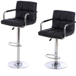 TABOURET DE BAR Lot De 2 Tabourets Bar Haut Chaise Simil