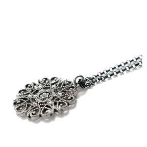 SAUTOIR ET COLLIER Mode pour femmes creux fleur lumineux strass Longu