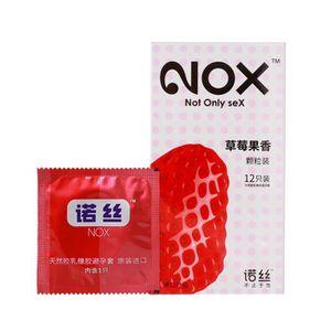 PRÉSERVATIF 12Pcs Condom Saveur De Fraise Ultra Mince Particul