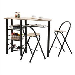 MANGE-DEBOUT Ensemble STYLE avec table haute de bar mange-debou