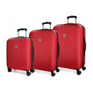VALISE - BAGAGE Riga Movom bagages ensemble rigide rouge 55-70-80c