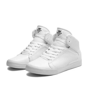 BASKET Shoes SUPRA SOCIETY MID WHITE - ...