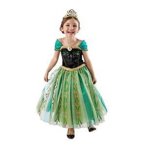 DÉGUISEMENT - PANOPLIE Robe elsa la reine des neiges costume enfant jolie