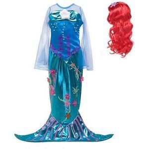 DÉGUISEMENT - PANOPLIE Filles Princesse Ariel Cosplay Costume Flare Manch