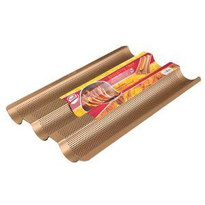 MOULE  Baguette Moule à pain perforé en acier inoxydable