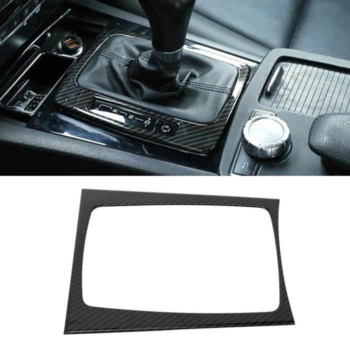 Eiffel Panneau de changement de vitesse de texture de fibre de carbone adapté pour Mercedes Benz C GLK classe W204 08-13