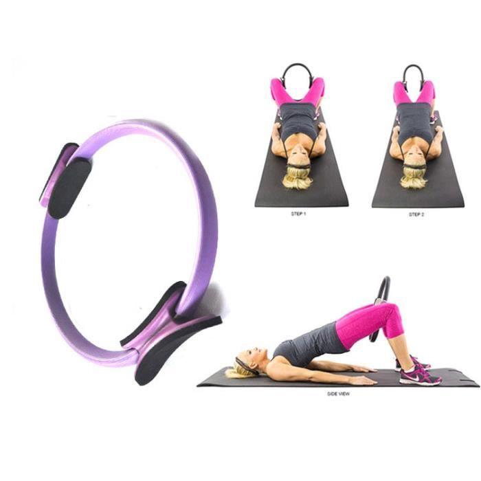 Anneau Pilate VIOLET Elastique de Résistance Cercle Magique Telg trainer pour Yoga Fitness Musculation