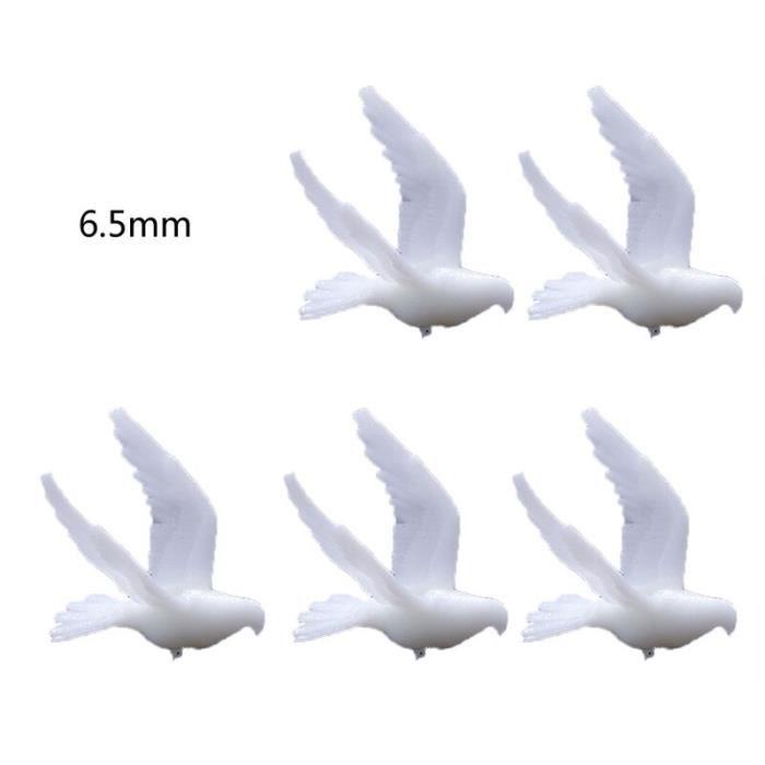 5 pièces Silicone Mini colombe de paix modélisation résine moule Landspace remplissages résine bijoux garnitures [4D3A969]