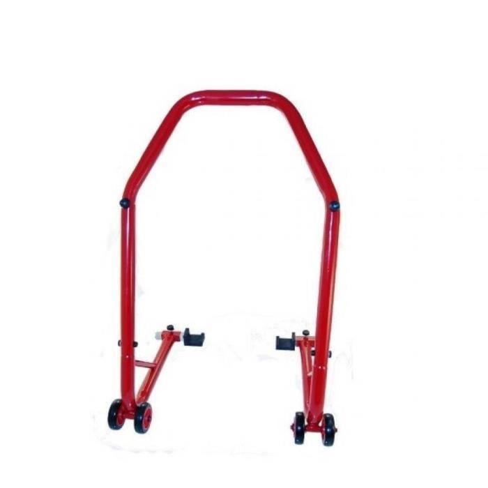 Béquille de paddock stand de roue arrière One rouge moto circuit