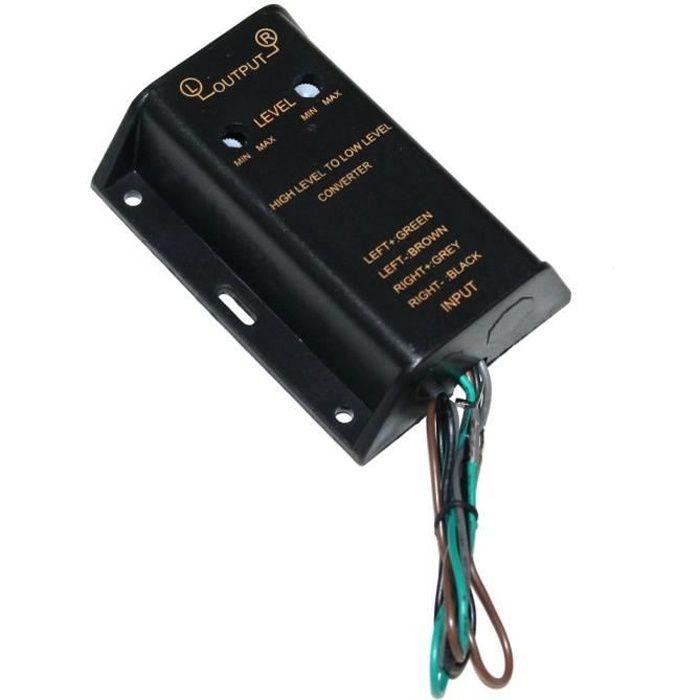 Adaptateur autoradio RCA vers amplificateur