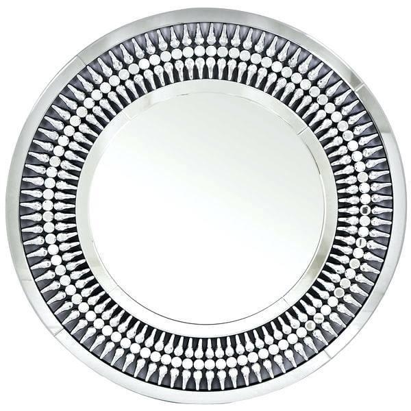 Miroir argenté design en bois mdf et verre L. 100 x P. 3 x H. 100 cm collection BOSARO VIV-96604 Argenté