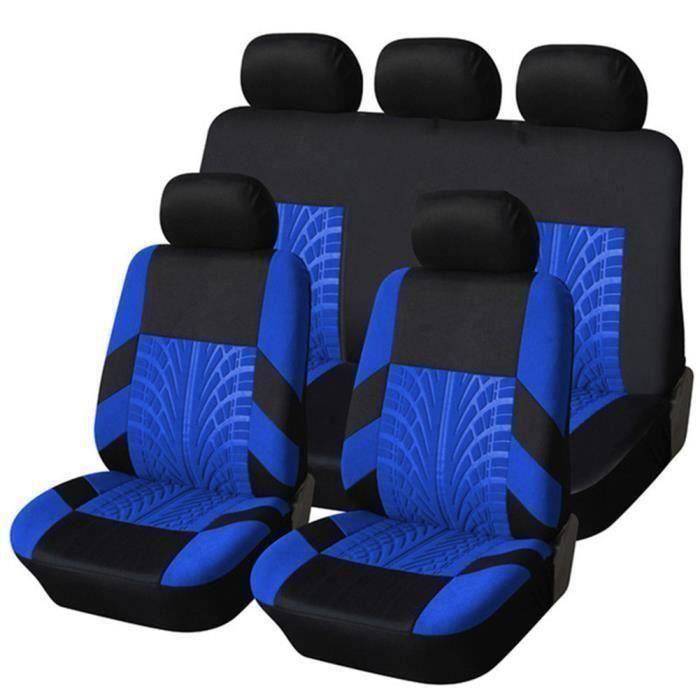 Housse de Siège Auto Universelle coussins pour Siège Voiture,auto Protecteur de siège, Couvre Siège voiture - Bleu01