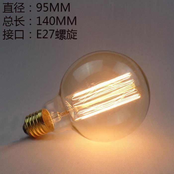 Incandescente Ampoule G95 60W Meg08539