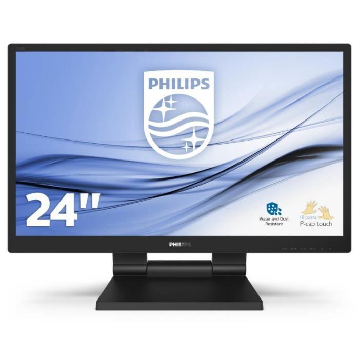 PHILIPS Écran LED B Line 242B9T 24- -Ecran tactile - 1920 x 1080 Full HD (1080p) - 250 cd/m²