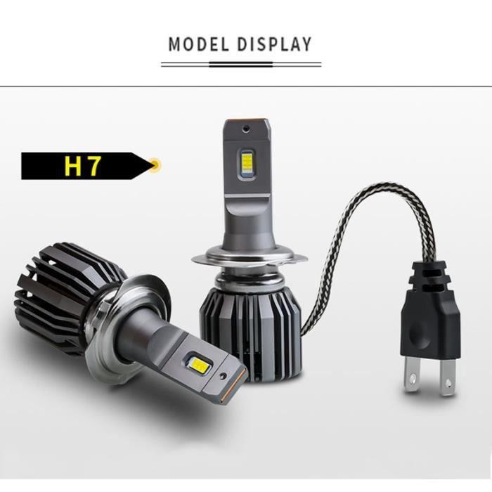Couleur H7 Emitting Phare de voiture verser VW Golf 4 5 6 7 Passat B5 B6 B7 Jetta MK4 MK5 MK6, 2X Canbus LED