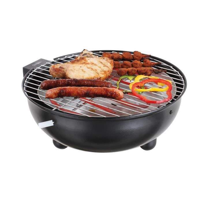 DOMOCLIP DOC170N Barbecue électrique de table Noir