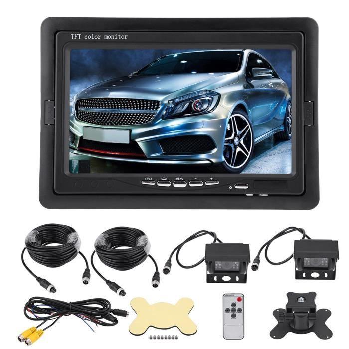 BORLAI® 7 pouces TFT LCD moniteur vue arrière de voiture caméra de recul de recul Vision nocturne pour camion de bus RV