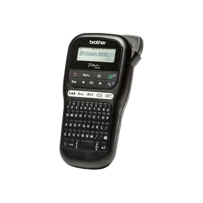 Brother P-Touch PT-H110 Étiqueteuse monochrome transfert thermique Rouleau (1,2 cm) 180 dpi jusqu'à 20 mm-sec impression par 2…
