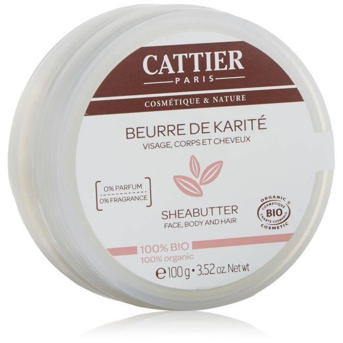 Cattier Beurre de Karité 100% Bio 100 g: Hygiène et Soins du corps