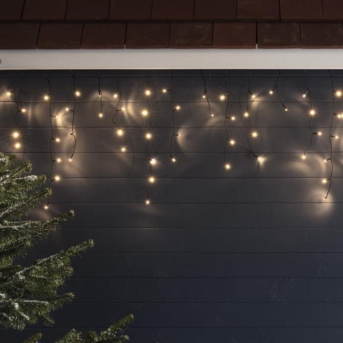 Guirlande Lumineuse Stalactites 300 LED Blanc Chaud Intérieur/Extérieur