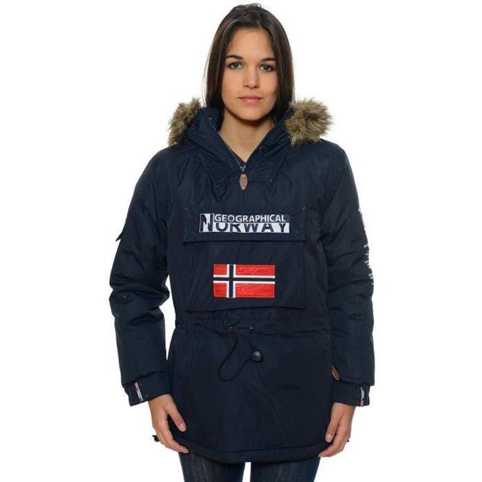 Parka Femme Geographical Norway Bulbeuse Marine