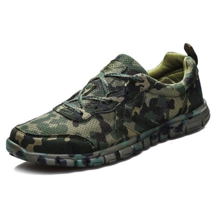 Camouflage Vert Basket homme chaussure de sport course Running respirant training Mess imperméable antidérapant haute qualité MD