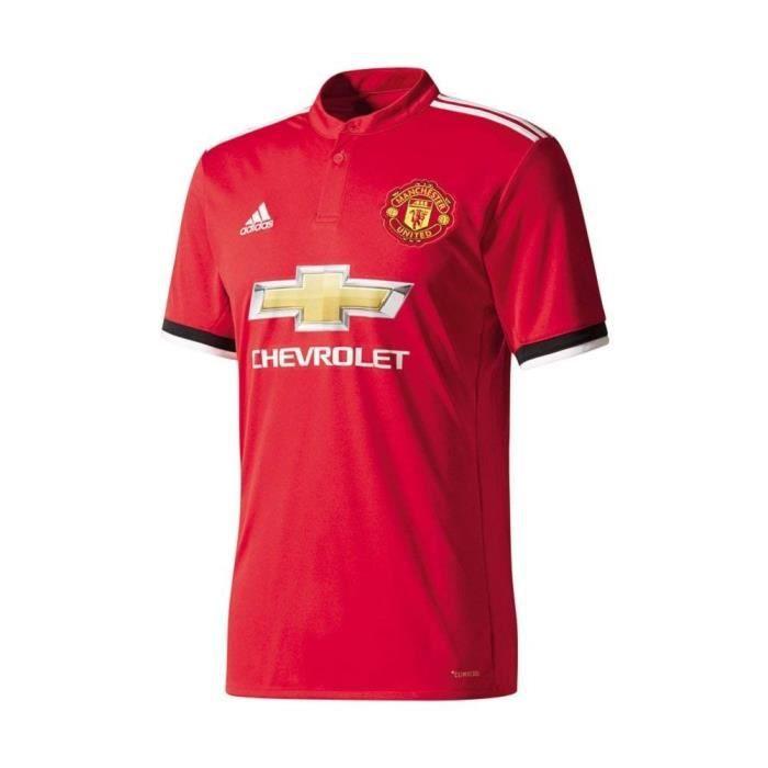 ADIDAS Maillot de football Manchester United Domicile 17 - Enfant garçon - Rouge