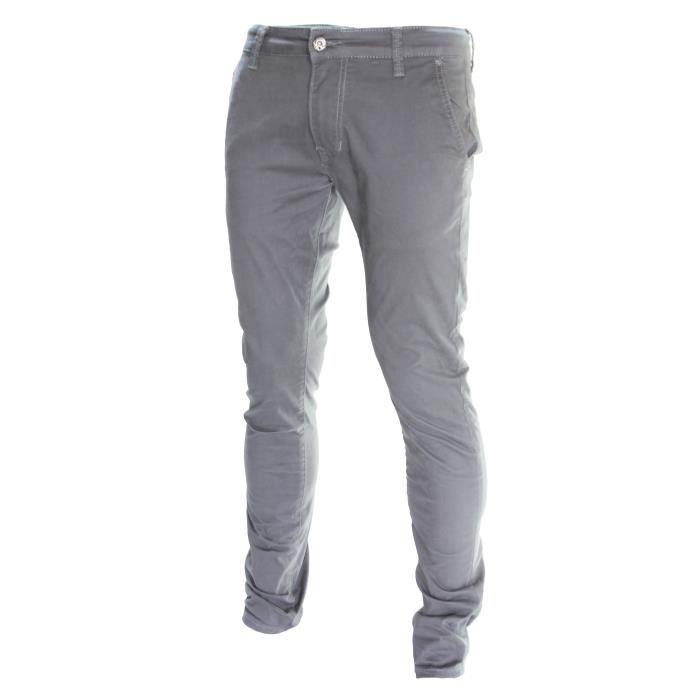 D-Skins - Pantalon chino gris Slim - DK-8511