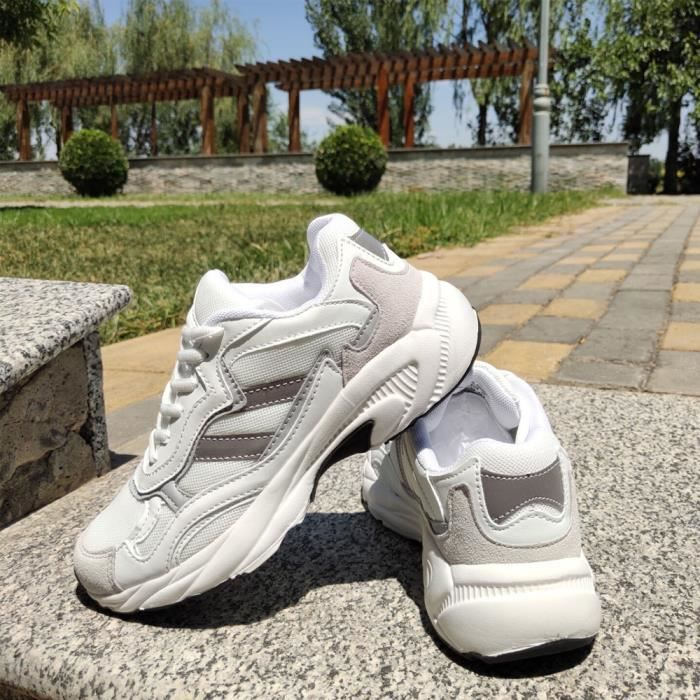 Chaussures de Running Baskets Femmes Mode Respirant Blanc
