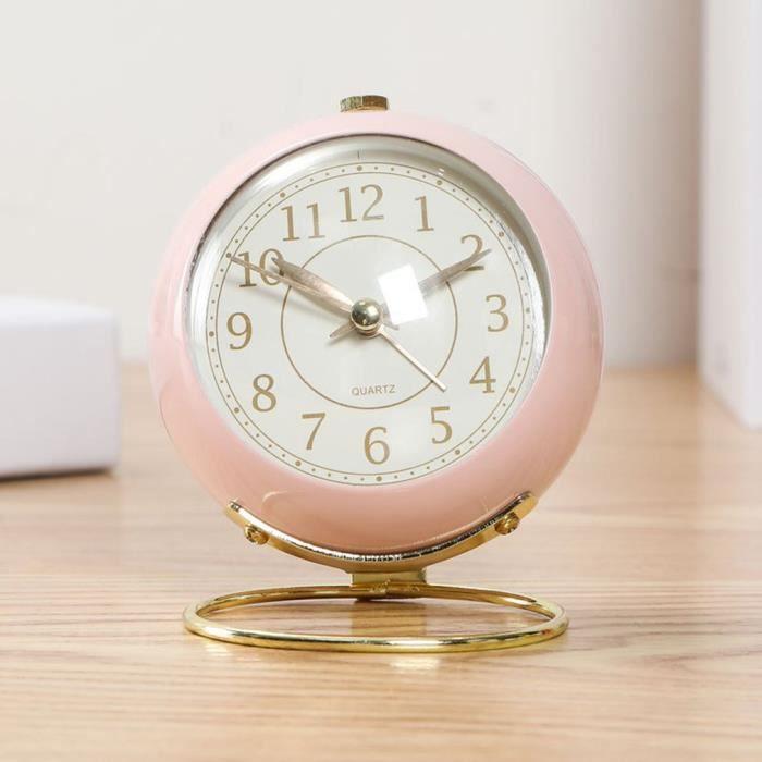 Mignon Réveil pour enfant - rose