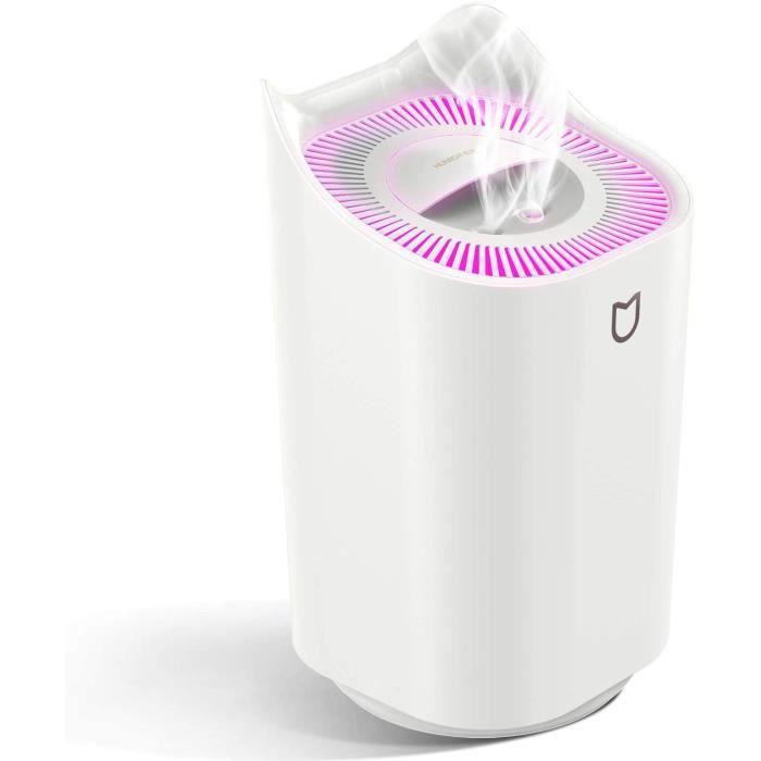 Stillcool® 3L Humidificateur d'air Ultrasonique 7 couleur lumière Diffuseur à brouillard avec double buse pour chambre bureau BLANC