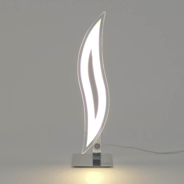 Lampe A Poser Design Chrome Led Flama Achat Vente Lampe A Poser