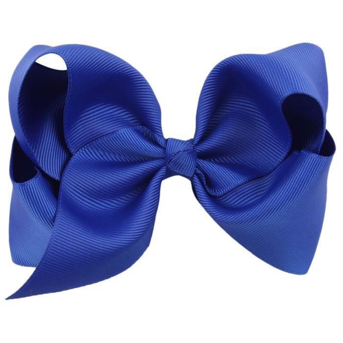 Filles Femmes Grande Taille Bleu Marine Cheveux Barrette à Cheveux Nœud Pour
