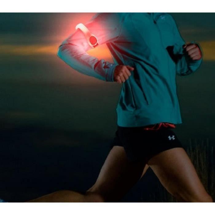Lumi/ère S/écurit/é /Éclairage Nuit avec Porte-Cl/é Scratch et Piles kwmobile 2X LED Clignotante Clip LED Visibilit/é pour Jogging Running