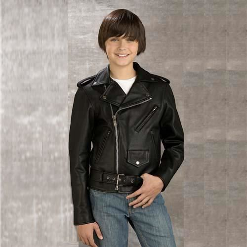 blouson biker perfecto cuir noir enfants 6 ans achat. Black Bedroom Furniture Sets. Home Design Ideas