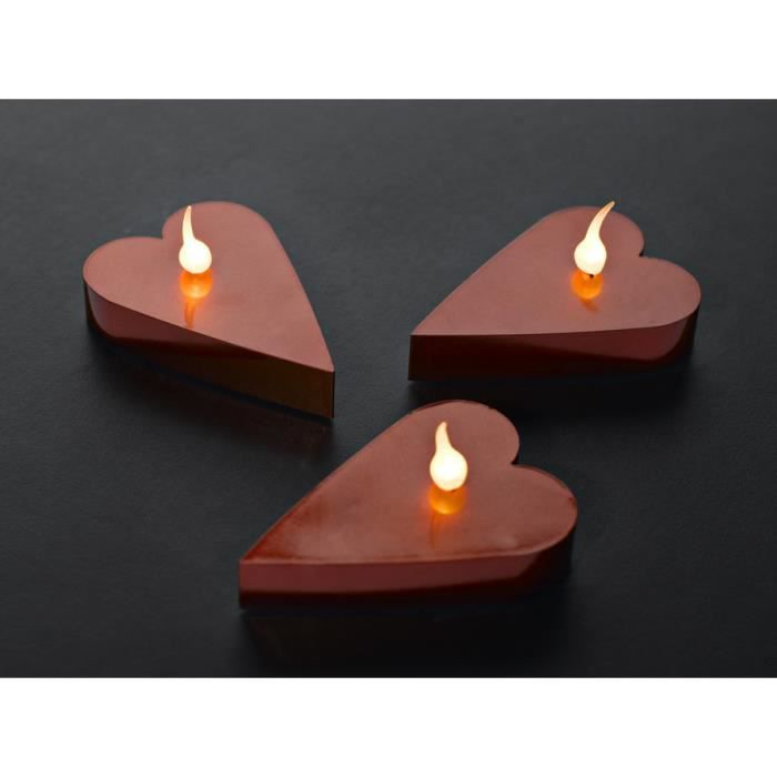 6 bougies coeur led rouge achat vente 6 bougies coeur led rou cdiscount. Black Bedroom Furniture Sets. Home Design Ideas