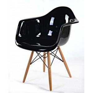 chaise daw de charles eames en fibre de verre achat vente chaise noir cdiscount. Black Bedroom Furniture Sets. Home Design Ideas