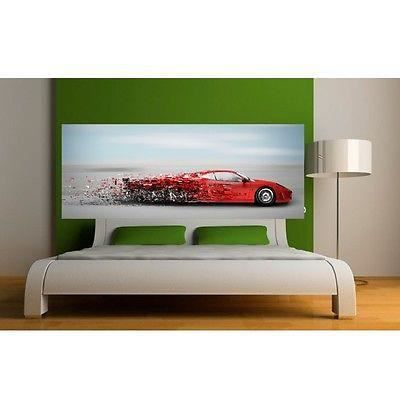 papier peint t te de lit ferrari 3659 dimensions 200x78cm achat vente papier peint papier. Black Bedroom Furniture Sets. Home Design Ideas